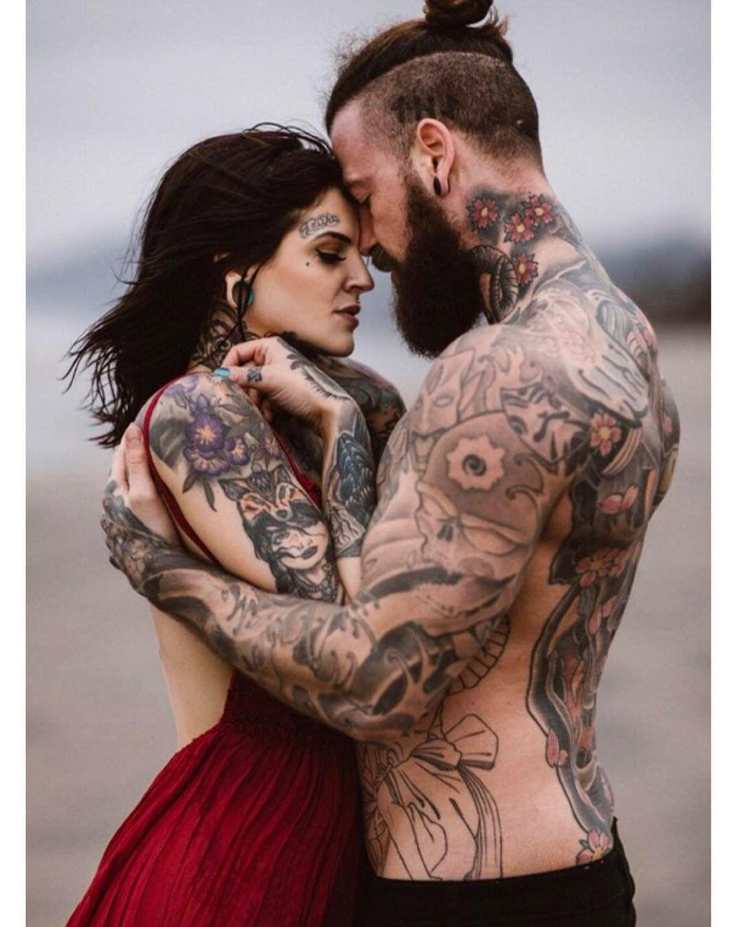 Hot husband and wife tattoo