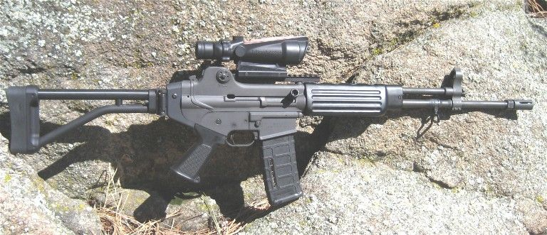 Daewoo DR-200 with Ace skeleton folding stock, ACOG, and A-2