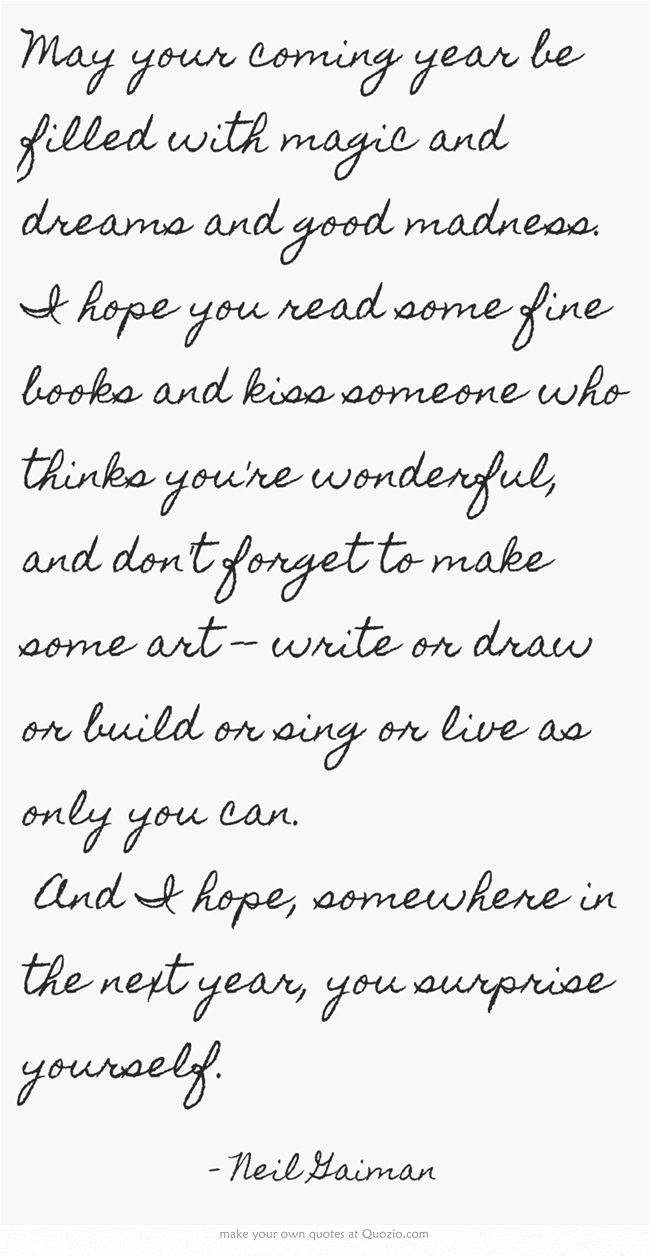 New Year\'s wishes from Neil Gaiman | YES | Pinterest | Neil gaiman ...