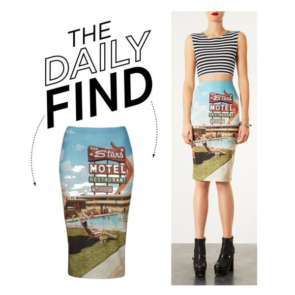 """""""The Daily Find: Topshop Tube Skirt"""" by polyvore-editorial on Polyvore"""
