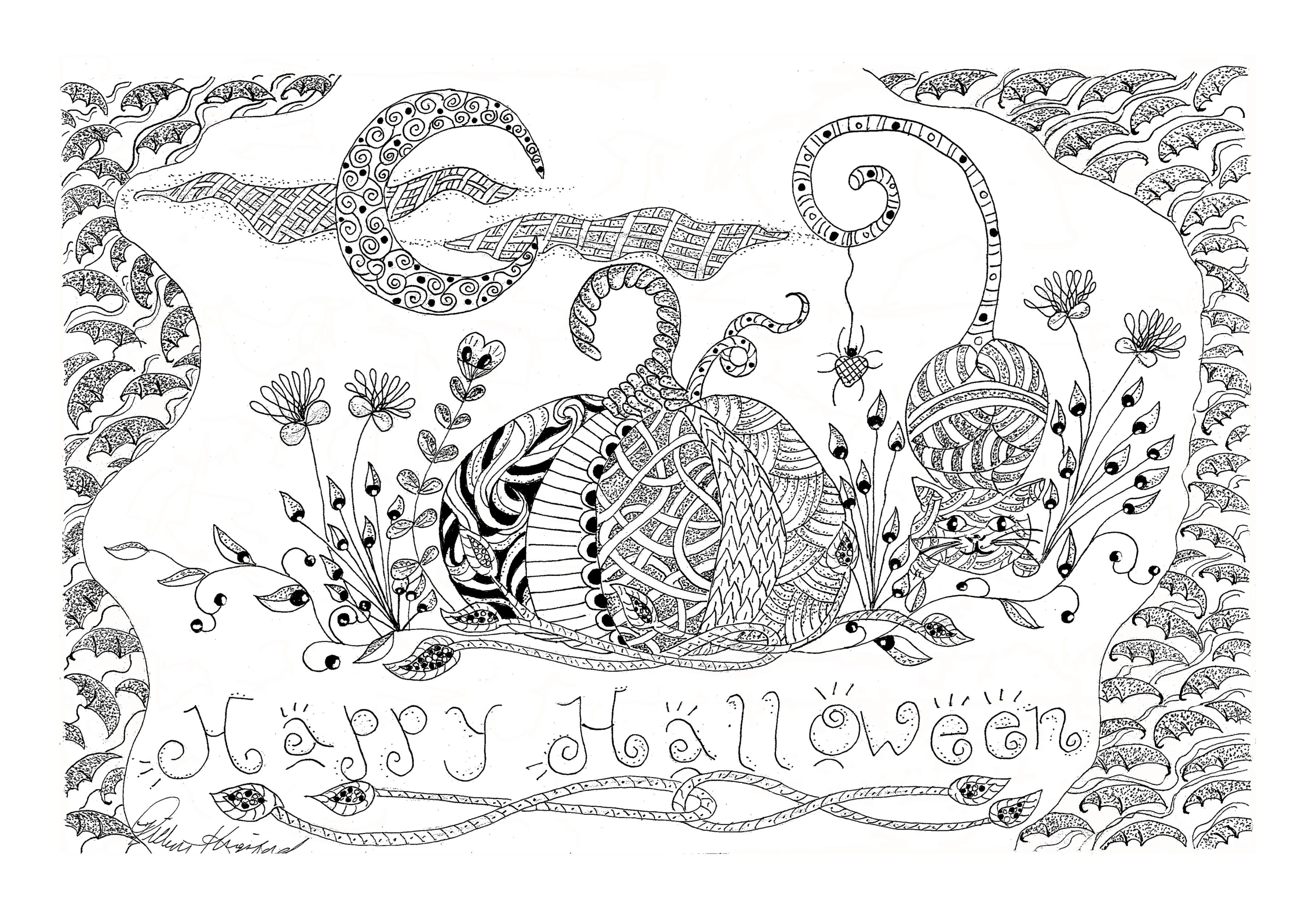 Halloween Tangle Doodles Zentangles Halloween Zentangle Halloween Art