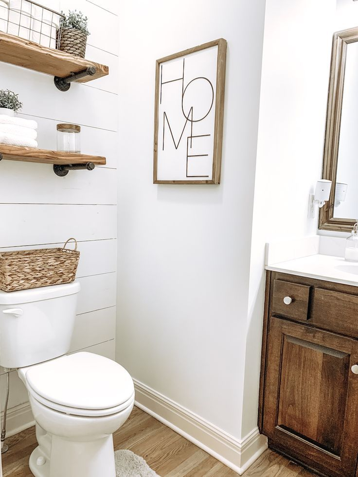 Photo of Half Bath Shiplap DIY Project Remodel – Kelsey Shackley