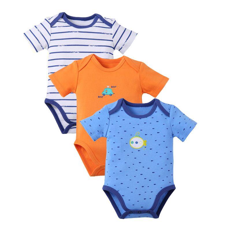 3 Pieces Lot Baby Boy Girl Clothes High Quality Cotton Bodysuit Short Sleeve Cartoon Baby Clothing Set Newbor Baby Boy Outfits Newborn Bodysuit Cartoon Outfits