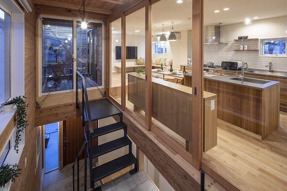 トオリニワの家 2020 画像あり 家 ハウス リビング キッチン