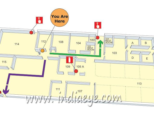 D Evacuation Plan Drawn In Sketchup  Vector Conversion Of