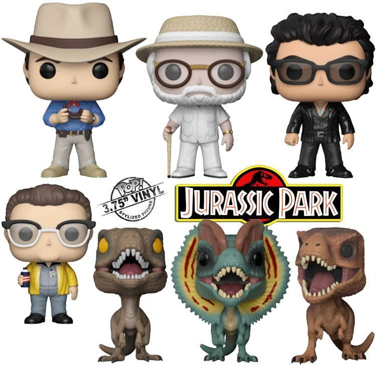 Jurassic Park Alan Grant Ian Malcolm Hammond T-Rex Raptor Nedry NEW Funko POP
