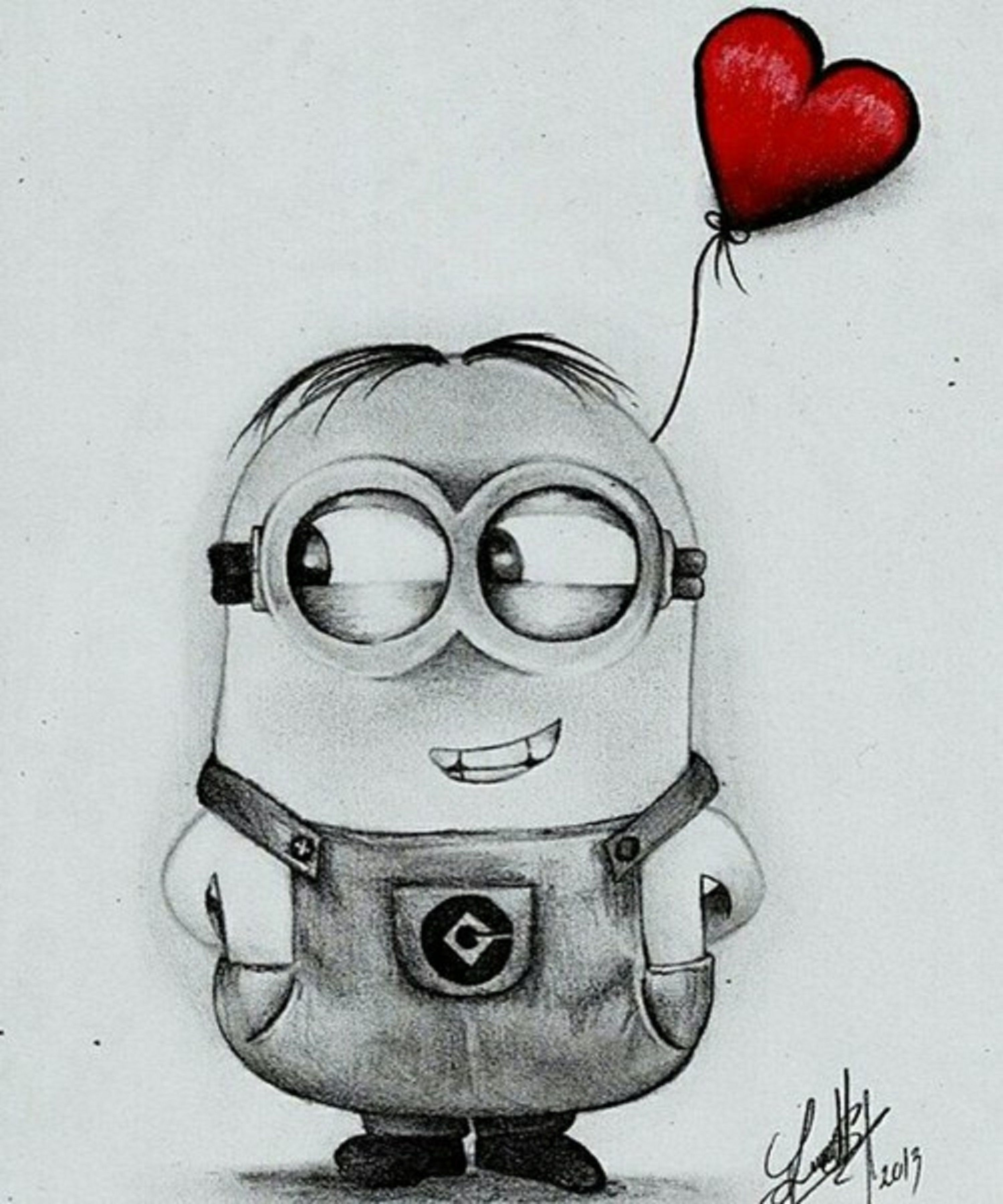 Minion In Love Art Sketches Pencil Sketches Art Drawings