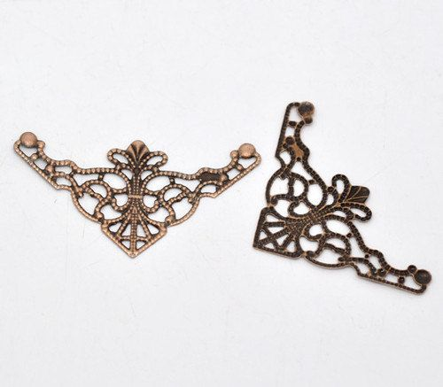 20 Filigree Triangle Wraps Diy Connectors Deco Jewelry Making Jewelry Stampings