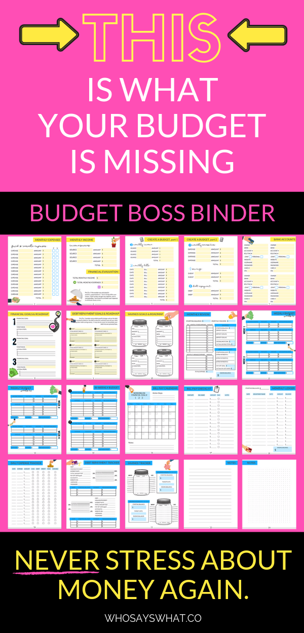 One Stop Solutions In Budget: Budget Boss Binder: Your Simple Solution To Stop Stressing