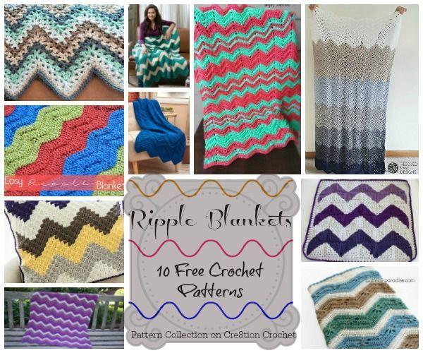 10 Beautiful Free Ripple crochet patterns | STOP searching and START ...