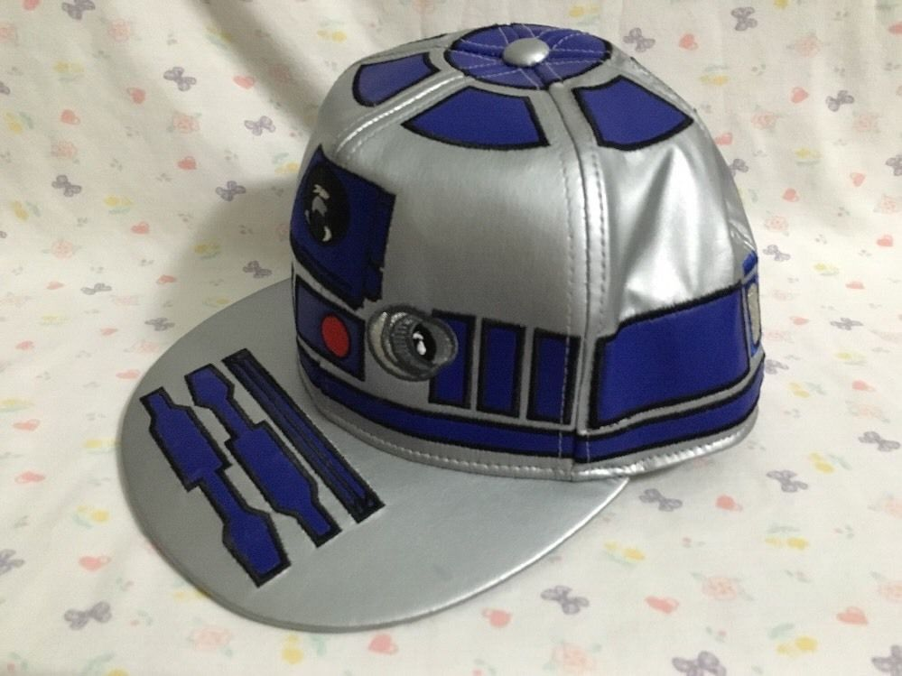 finest selection e1b87 58165 ... germany star wars r2d2 r2 d2 fitted cap silver pictorial brim  collectibles science fiction horror star