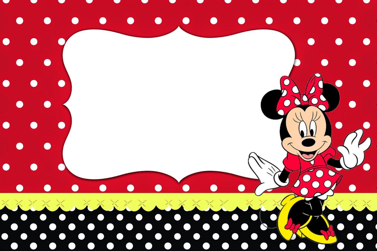 Minnie Rojo Invitaciones Para Imprimir Gratis Ideas Y