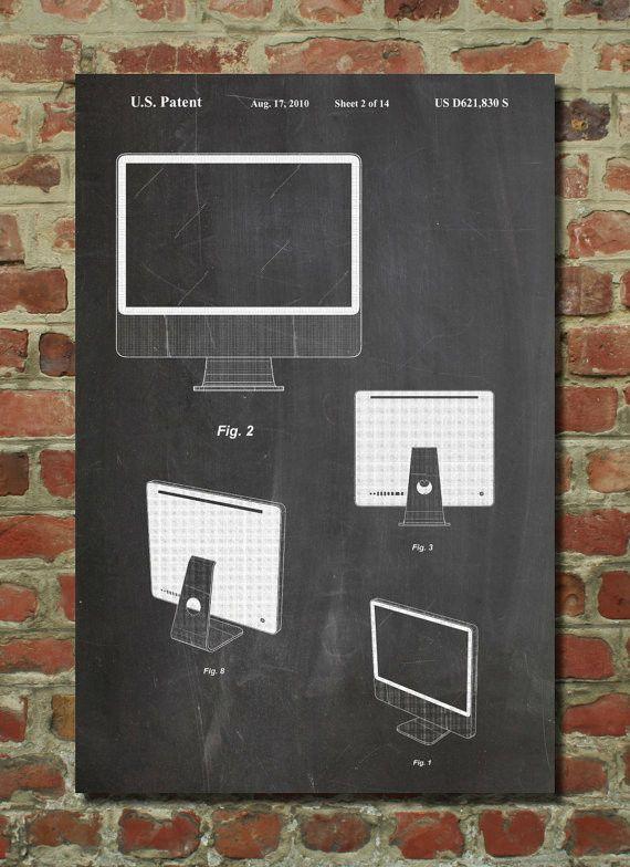 Imac computer poster imac computer patent imac computer print computer art malvernweather Choice Image