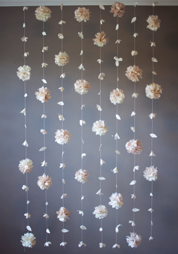 15 lovely hanging flower backdrop ideas in 2018 floral art and tissue flower hanging garland backdrop mightylinksfo