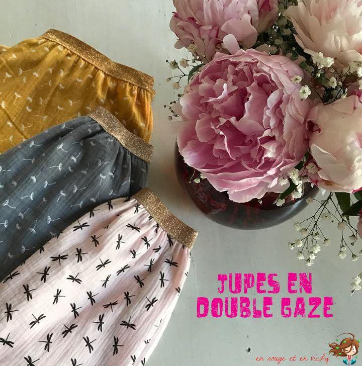 Les jupes en double-gaze [Défi P12 inside