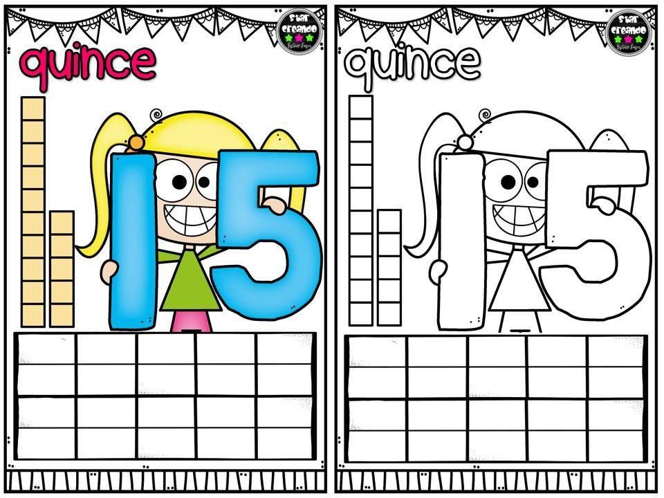 Tarjetas Para Repasar Los Numeros Del 1 Al 10 Y Colorear Colores