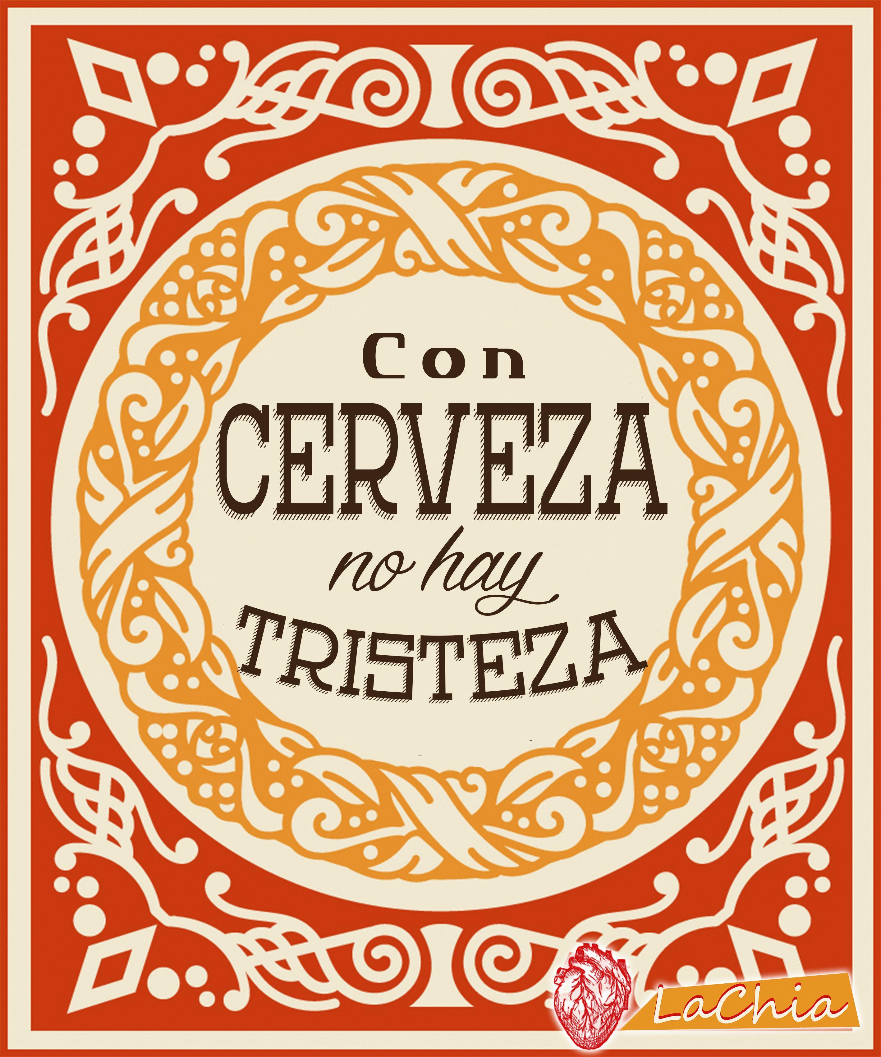 Lettering Diseñografico Lachia Frases Cerveza Tristeza