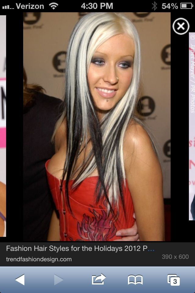 Christina Aguilera back in the day with black highlight ...
