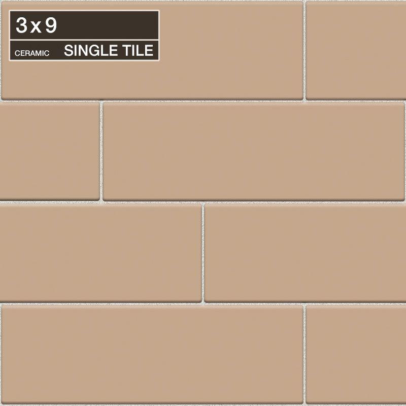 "Daltile QH20-391P Natural Hues Spice 9"" x 3"" Flat Ceramic Multi-Surface Tile (Sp Spice Tile Multi-Surface Tile Field Tile"