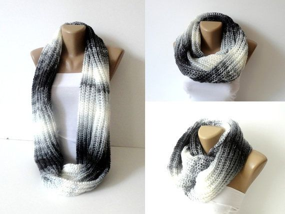 Knitting Loop Scarf : Infinity scarves knitted women scarf men loop