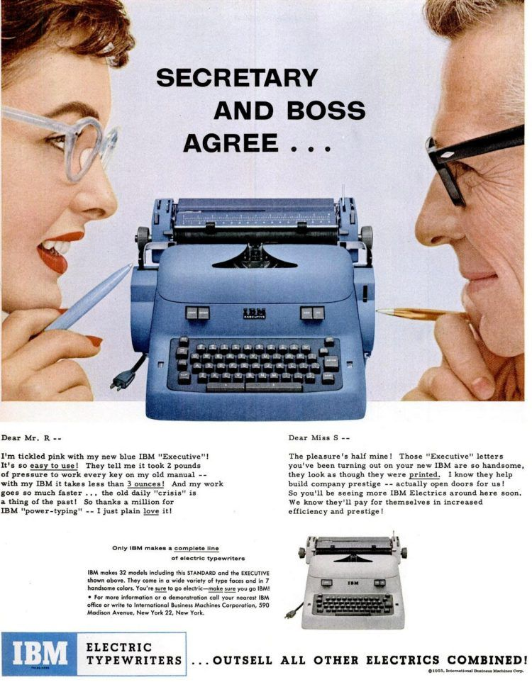 These Vintage Ibm Electric Typewriters Rocked The Business Scene