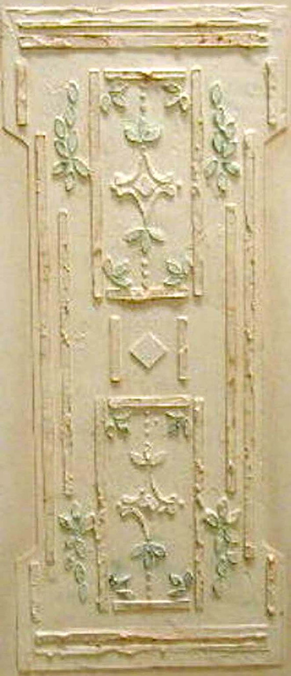 Raised Plaster Stencil Victorian Wall Panel, Wall Stencil, Painting ...