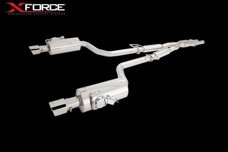 XForce Chrysler 300C 6.1L Stainless Steel Twin 3 Cat-Back System with Varex Mufflers Chrysler