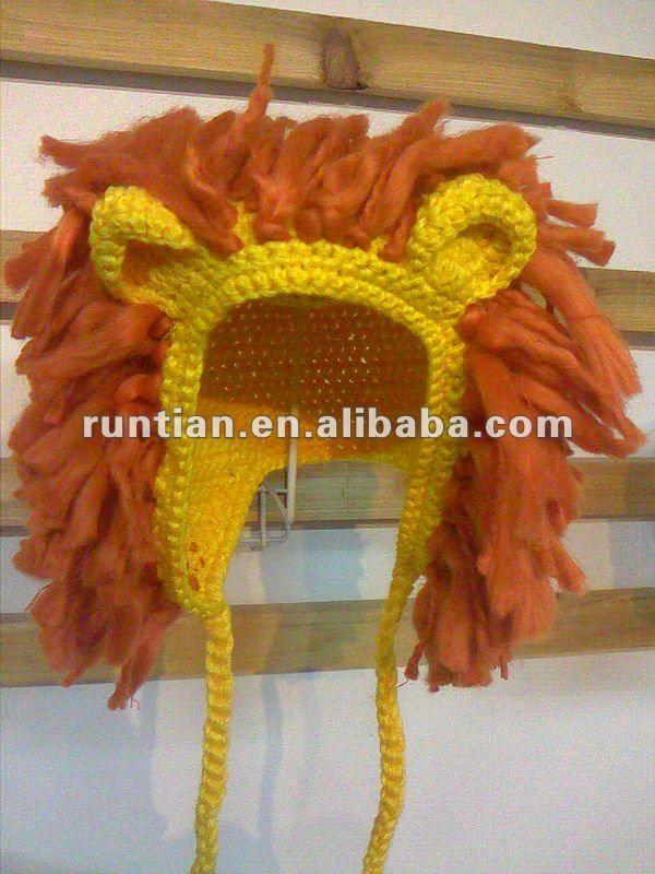Popular para niños suave de algodón Animal del león del sombrero de ...