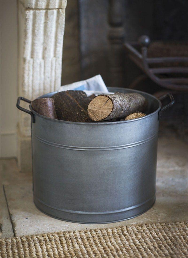 Bucket With Handles Bucket Galvanized Metal Garden