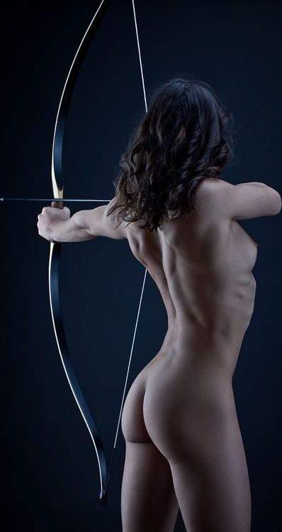 Sexy nude girls and archery #7