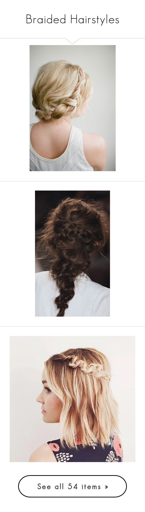"""""""Braided Hairstyles"""" by happy-fashionx ❤ liked on Polyvore featuring beauty products, haircare, hair styling tools, hair, hairstyles, beauty, braids, pictures, hair styles and filler"""