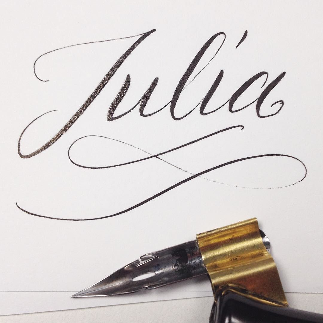 Hi im julia my first encounter with calligraphy goes