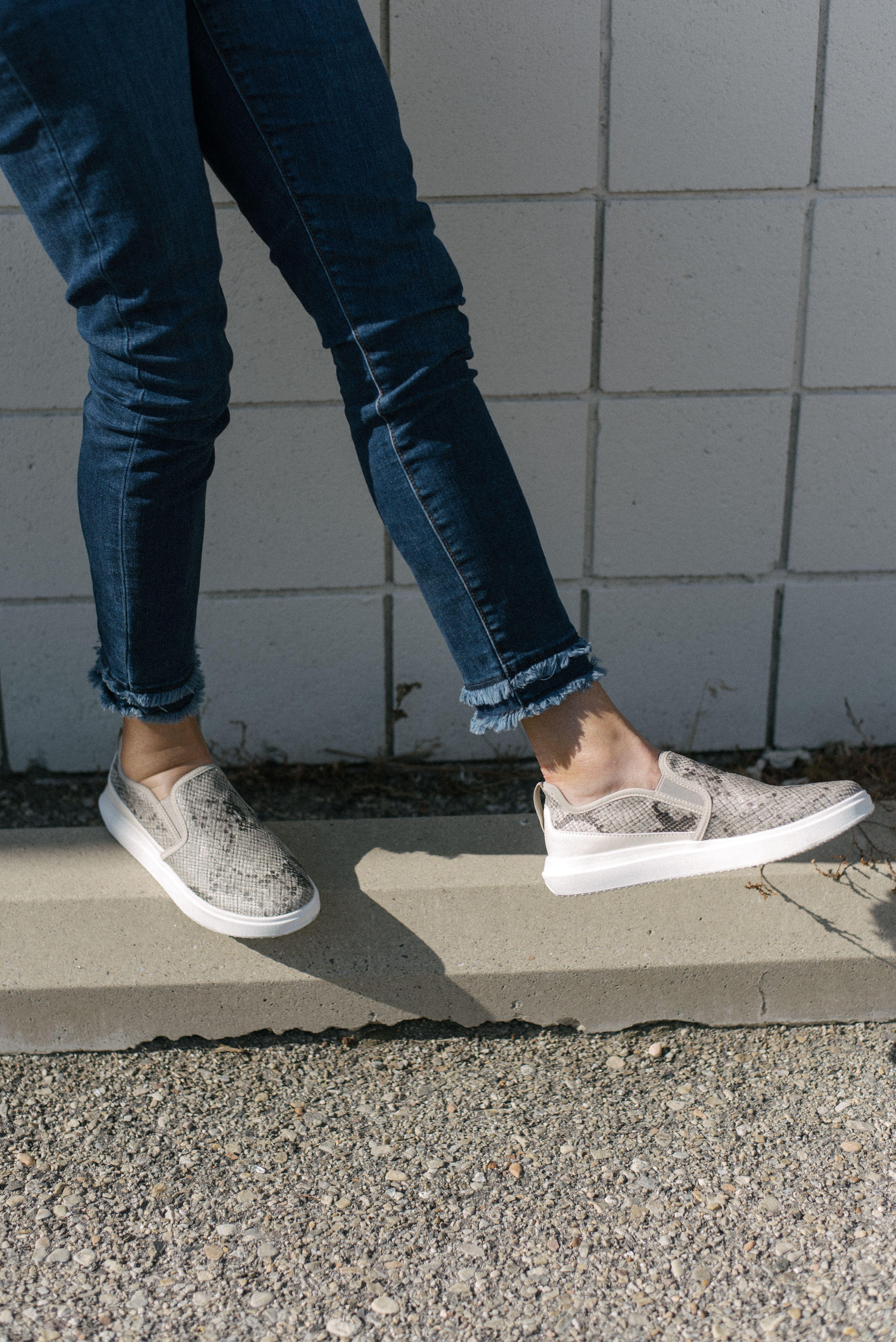 Snake print shoes, Slip on sneaker