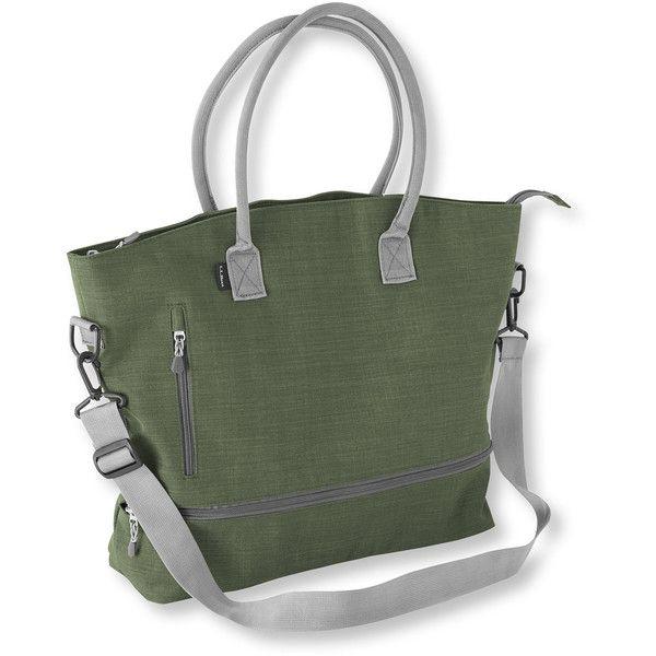 L Bean Wayside Ii Tote Bag Heathered 3 910 Rub Liked On Polyvore