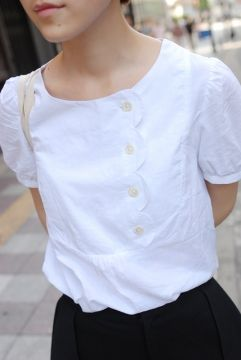 Scalloped Edge Blouse