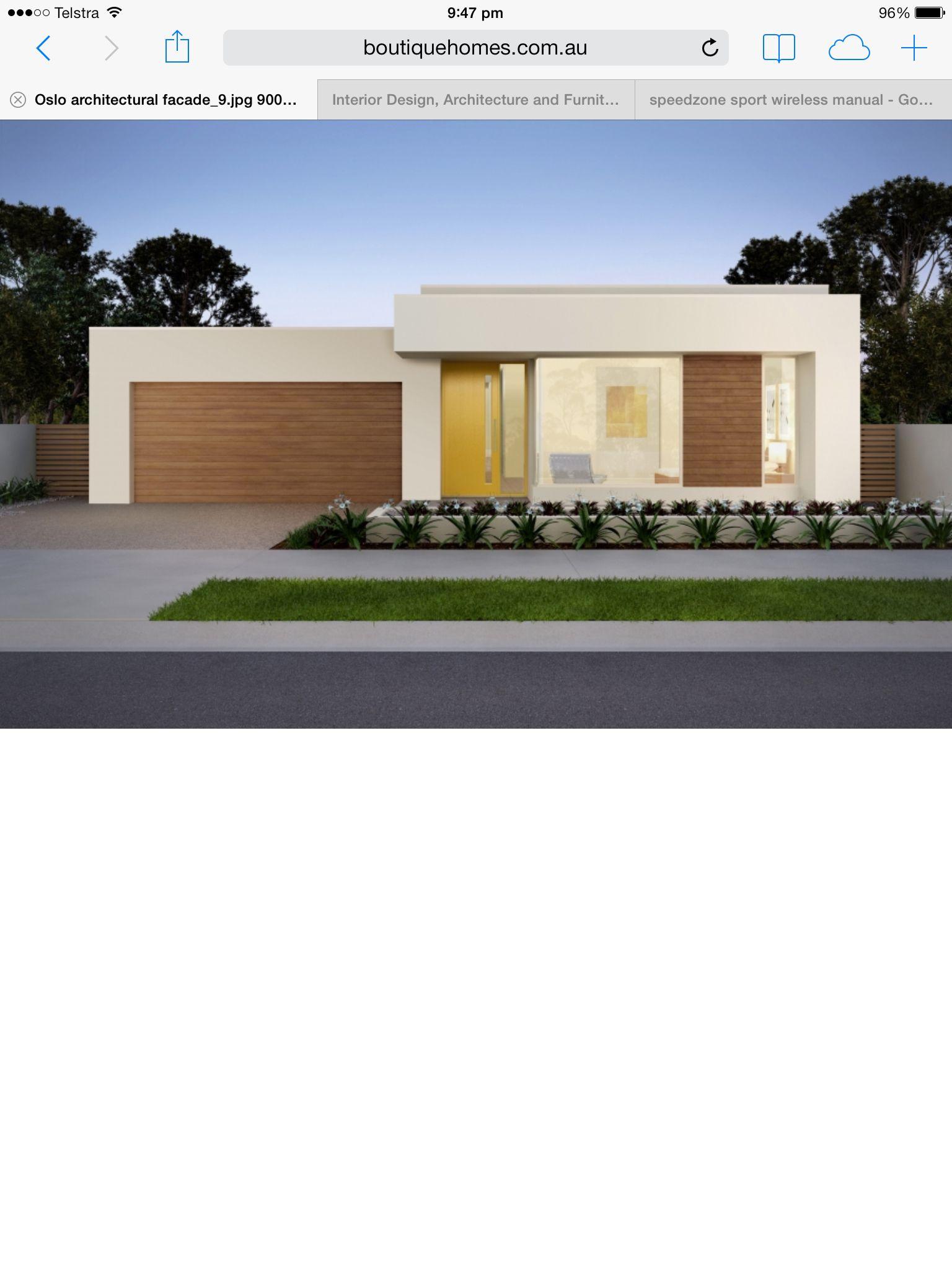 Modern Flat House Design: Modern, Flat Roofed Facade