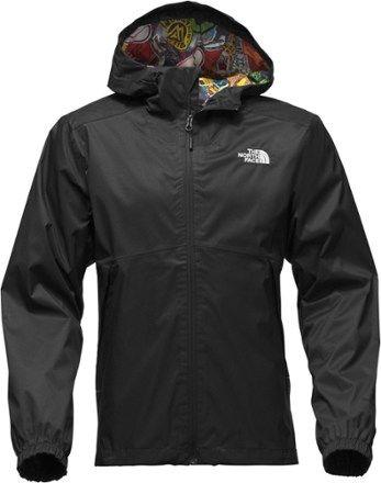 c9473d2bbc The North Face Men's Millerton Rain Jacket Black/Multi Sticker Bomb Print  XXL