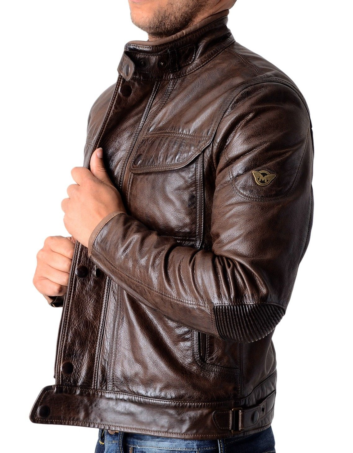 ac5aee6d0 Matchless - Kensington Leather Blouson - AntiqueBrown | Accent ...