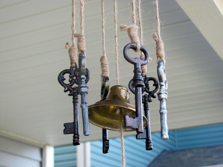 Rustic Handmade Skeleton Key Wind Chime.