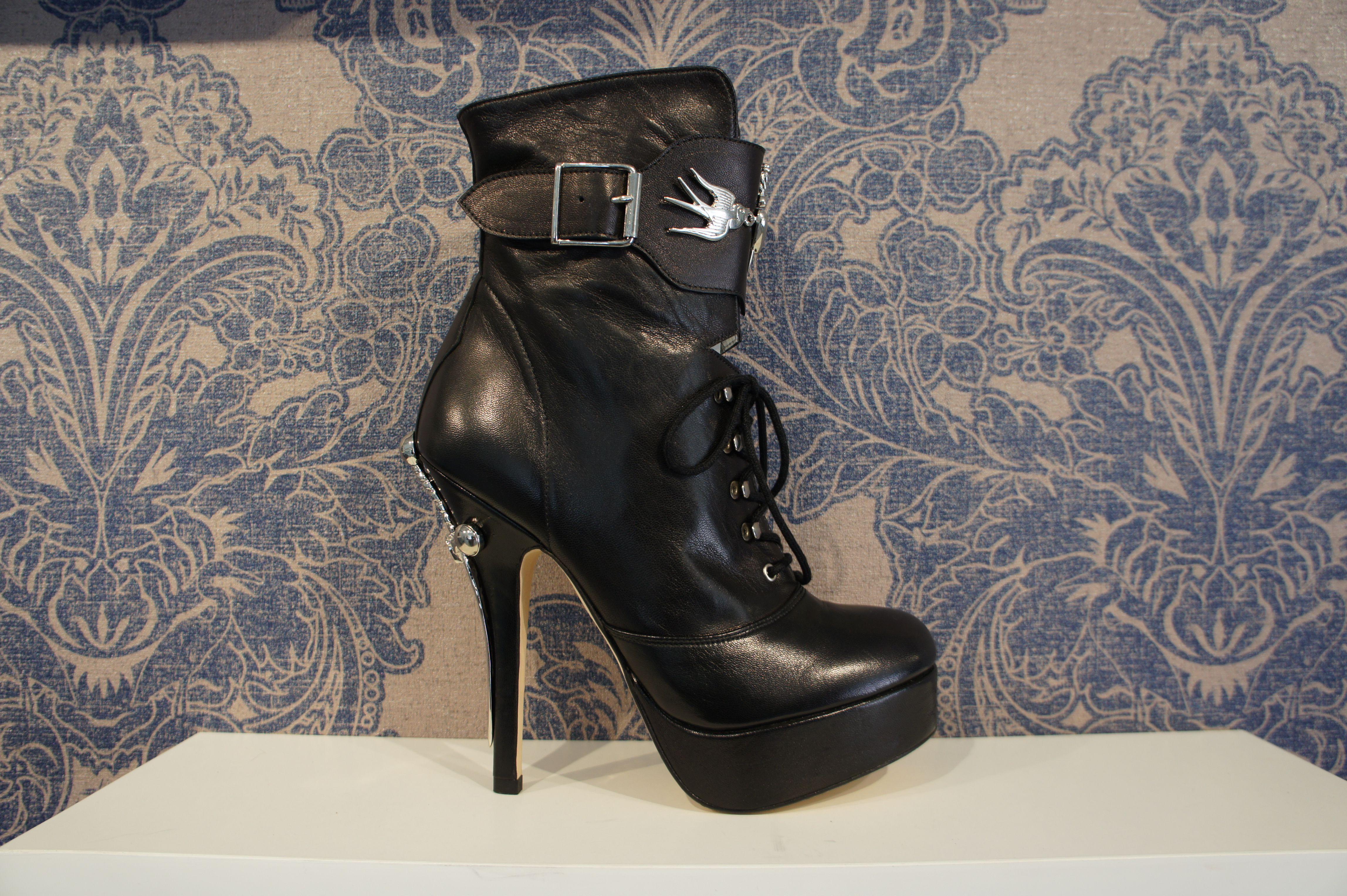 """Terry De Havilland """"Tattoo Boot"""" $750 available at Harleston 225 king street Charleston SC 843 720 8648"""