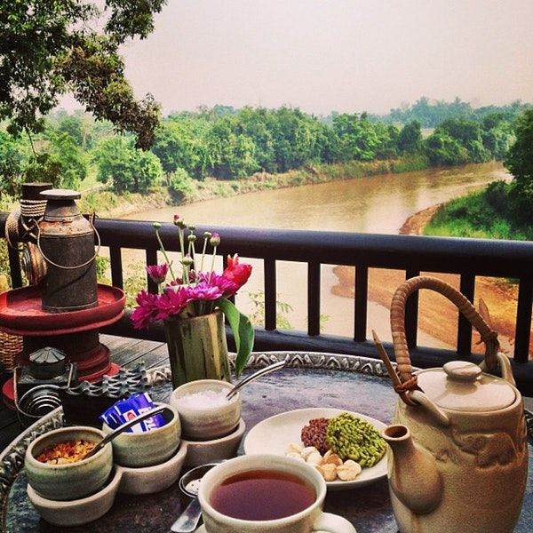 Photo taken at Four Seasons Tented Camp Golden Triangle, Thailand by Carlos M. on 3/25/2013