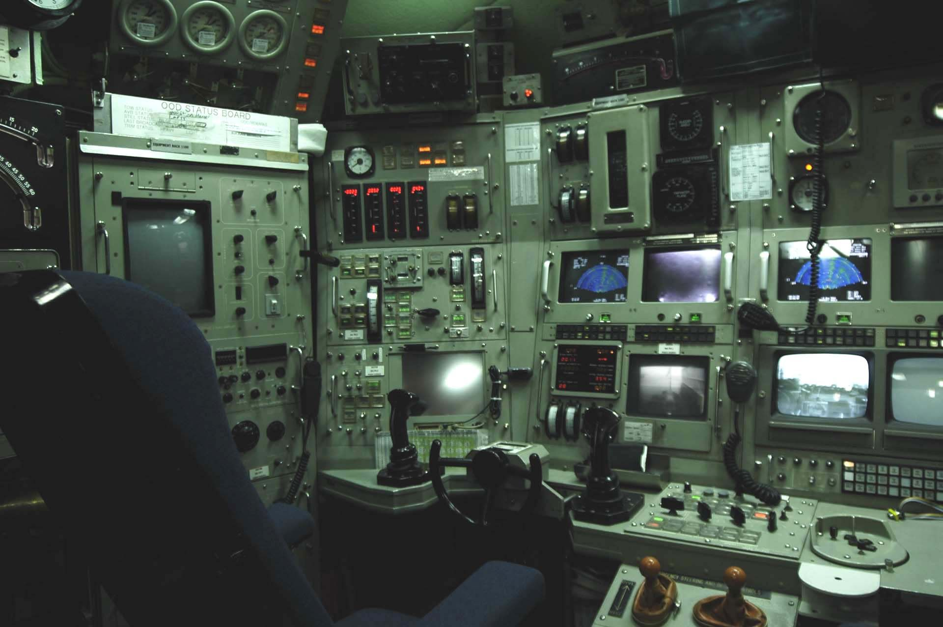 Submarine Interior Control Console Inside The Nr 1 Submarine Ife