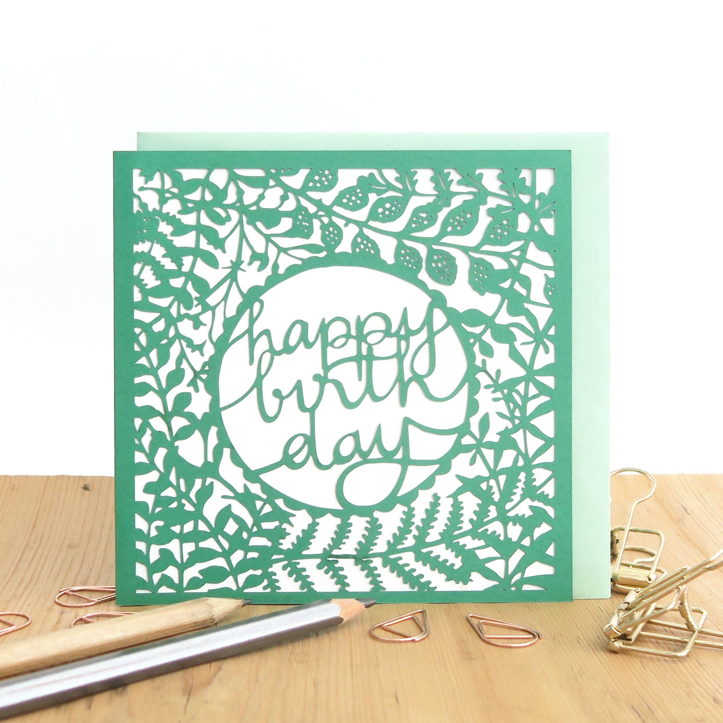 Birthday papercut card - Chau Art | Happy birthday cards, Birthday cards,  Cards