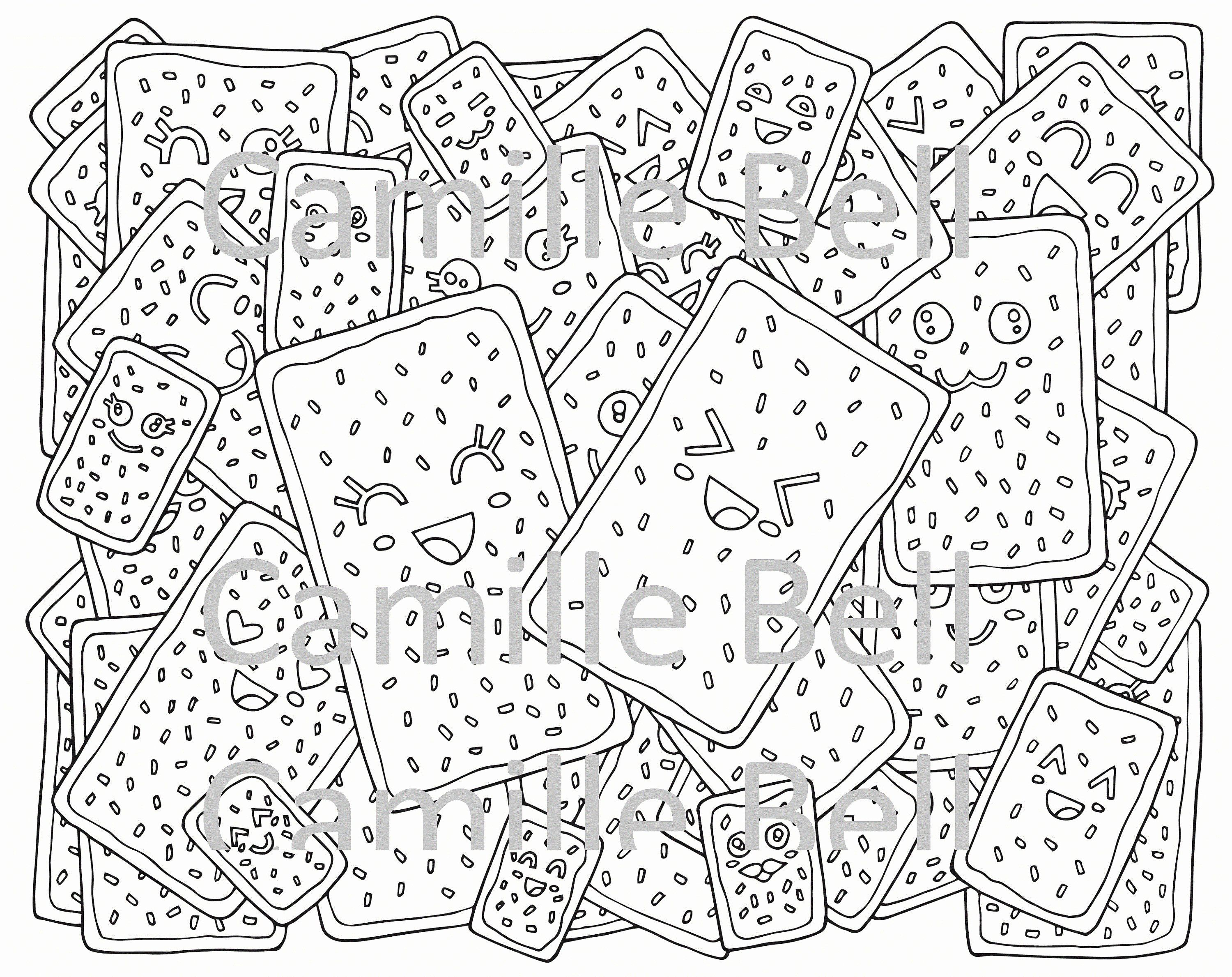 Super Cute Coloring Pages Beautiful Kawaii Pop Tart Coloring Page For Adults Super Cute Food Download Cute Coloring Pages Coloring Pages Monster Coloring Pages