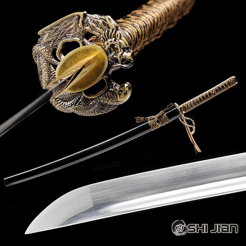 HAND CARVED DRAGON SAYA+DRAGON BLADE JAPANESE DRAGON SWORD KATANA VERY SHARP