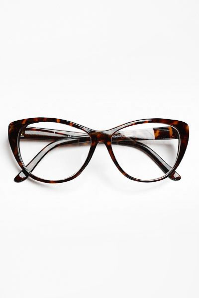 4ad7ab774a72 Oversized  Violet  Clear Cat Eye Glasses - Tortoise  1100-2 ...