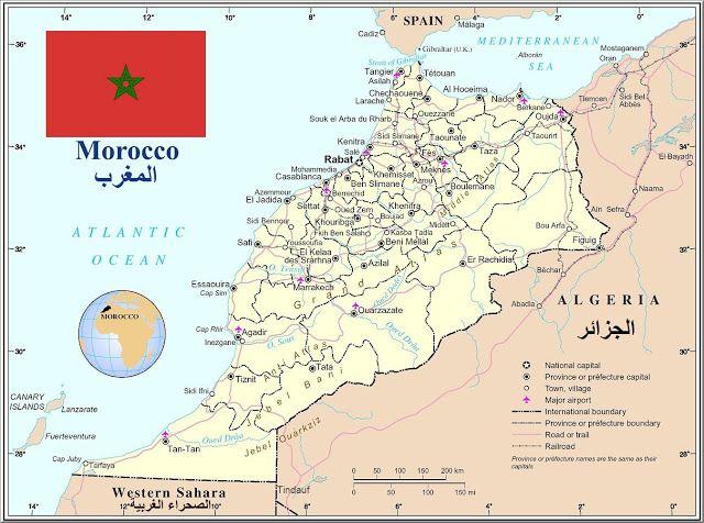 Marokko Geografiske Kort Over Marokko Dansk Encyklopaedi