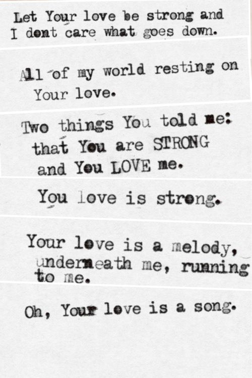 "Your Love Is Strong Jon Foreman Lyrics : strong, foreman, lyrics, ""Your, Love"", Sequel, Foreman, Songs, Lyrics,, Christian, Music, Amazing, Quotes"