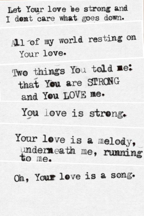 your love is your love is your love is strong