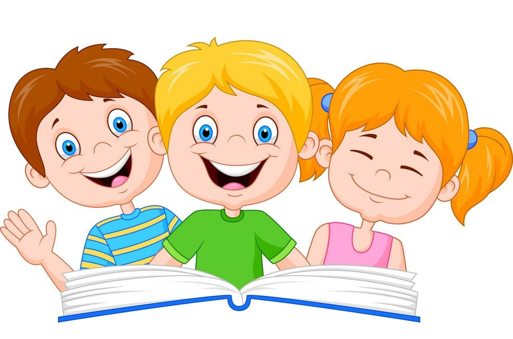 30+ Cute Students Reading Clipart